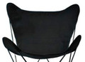Butterfly Chair Replacement Cover - Ebony Black Cotton Duck