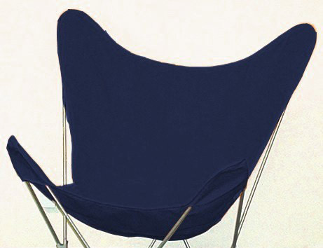 Butterfly Chair Replacement Cover - Navy Blue Cotton Duck