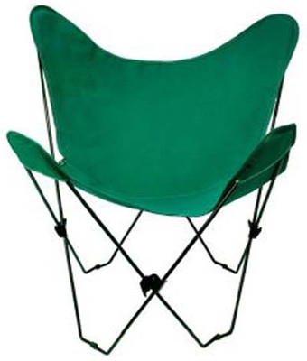 Butterfly Chair with Hunter Green Cotton Duck Cover Black Frame