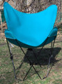 Butterfly Chair with Teal Cotton Duck Cover Black Frame