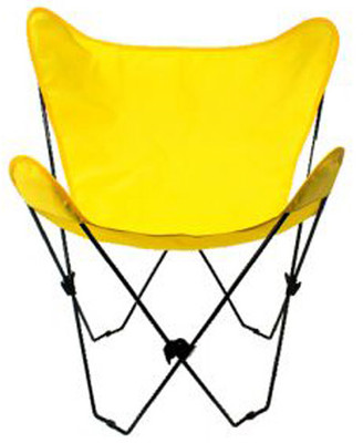 Butterfly Chair with Yellow Cotton Duck Cover Black Frame