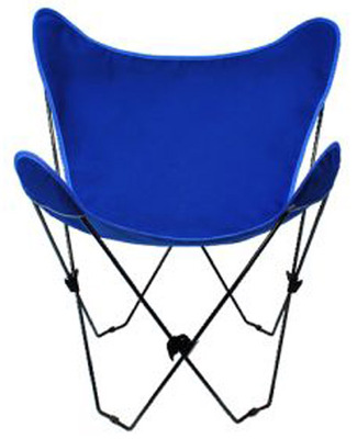 Butterfly Chair with Royal Blue Cotton Duck Cover Black Frame