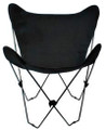 Butterfly Chair with Ebony Black Cotton Duck Cover Black Frame