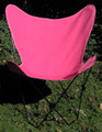 Butterfly Chair with Pink Cotton Duck Cover Black Frame