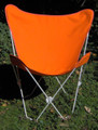 Butterfly Chair with Orange Cotton Duck Cover White Frame