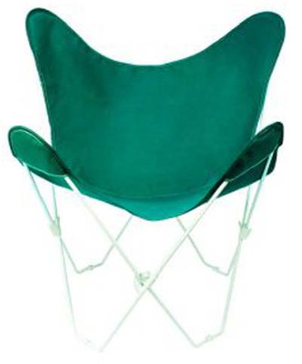 Butterfly Chair with Hunter Green Cotton Duck Cover White Frame