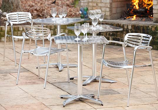 Aluminum Table with 4 chairs