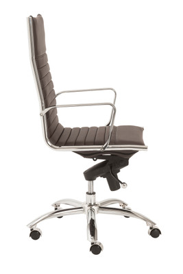 Dirk high back office chair in brown leatherette