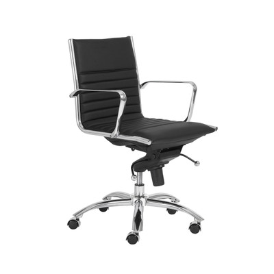 Dirk Low Back Office Chair in Black Leatherette