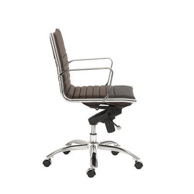 Dirk office chair - low back - brown leatherette