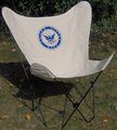 US Navy Butterfly Chair with Black Frame