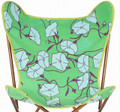 Kantha Green Flower Cotton Butterfly Chair Cover