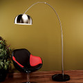 Arch Sofa Floor Lamp with Chrome Shade