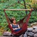 Burgundy Caribbean Hanging Rope Chair