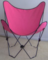 Butterfly Chair with Pink Cover and Black Frame