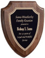 "Victory Walnut Shield Award Plaque Large - 8.5"" x 10"""