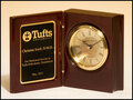 Mahogany Finish Book clock with Gold-Spun Dial
