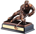 "Hockey Gallery Resin Sculpture 10"" Tall"