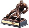 """Hockey Gallery Resin Sculpture 10"""" Tall"""
