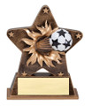 Soccer Starburst Resin 5.5&quot; Tall