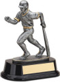 "Baseball Bat Down Resin Sculpture Male 6.5"" Tall"