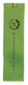 Participant Green Carded Ribbon with String 2 X 8