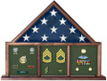 3 Bay Mantle Casket Flag Case