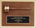 Walnut Plaque with Gavel Attached
