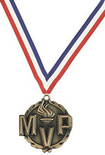 MVP Medal With Red White Blue Ribbon