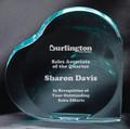 "Jade Acrylic Heart Award 6"""