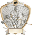 "Hockey Standing Shield Resin 8.5"" Tall"