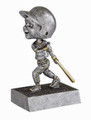 "Baseball Male Bat Down Bobble Head Resin 5.5"" Tall"