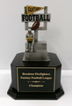 "Fantasy Football: Goal Post Figure on Black Wood Base 11.5"" Tall"