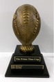 "Fantasy Football: League Champion Gold Football on Black Piano Finish Base 15.5"" Tall"