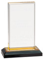 "Beveled Impress Gold Acrylic 8"" Tall"