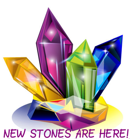 New stones, color, cluster
