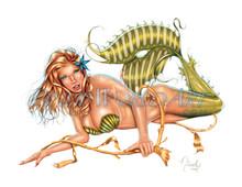 """""""Oceana"""" mermaid pin-up by Nicole Brune"""