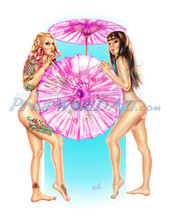"Sexy Tattoo Nude Girls ""Parasols"" by Nicole Brune"