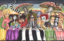 The Last Tea Party original drawing by Nicole Brune
