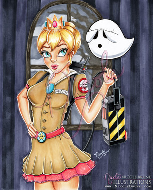I Ain't Afraid of No Boos! original drawing by Nicole Brune