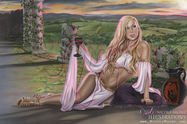 "Waiting for Dionysus 20x30"" oil painting by Nicole Brune"