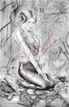 "Return of the Princess 11x17"" original graphite drawing by Nicole Brune"