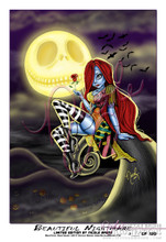 """Beautiful Nightmare 13x19"""" Limited Edition pinup by Nicole Brune"""