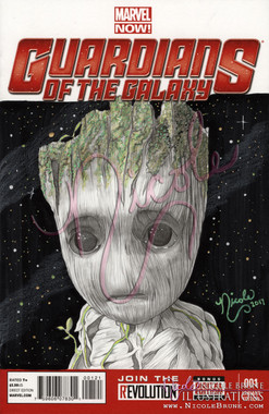 Guardians of the Galaxy blank cover - original Baby Groot by Nicole Brune