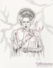 "Frankenstein's Bride 11x14"" original drawing by Nicole Brune"