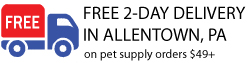 Free delivery in Allentown, PA on Pet Supply orders $49+