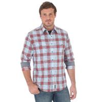 Wrangler Men's Retro Long Sleeve Shirt - Blue/Orange