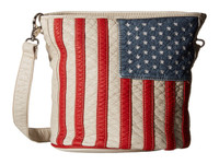 Blazin Roxx Womens Purse Handbag Conceal Carry Americana Bucket Flag