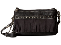 Blazin Roxx Western Womens Purse Hadley Crossbody Fringe Studded Black