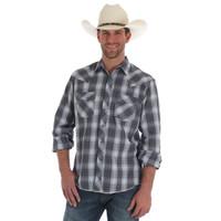 Wrangler Men's Fashion Snap Long Sleeve Shirt - Plaid